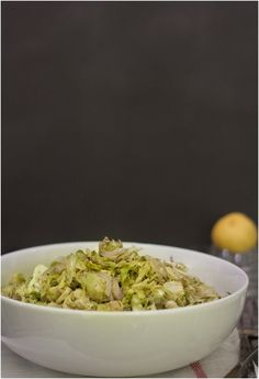 Slivered Brussels Sprouts Roasted with Shallots // 80twenty  Notes: cook a little longer than recipe calls for