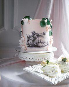 Gorgeous Cakes, Pretty Cakes, Amazing Cakes, Creative Cake Decorating, Creative Cakes, Bird Cakes, Cupcake Cakes, Cat Cakes, Kitten Cake