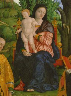 Girolamo dai Libri - Madonna and Child with Saints, altarpiece, ca. 1520  (Italian, Veronese, 1474–1555). The Metropolitan Museum of Art.