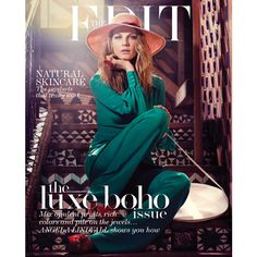 """THE EDIT MAGAZINE Angela Lindvall in """"Bohemian Sould"""" by Photographer... ❤ liked on Polyvore featuring backgrounds"""