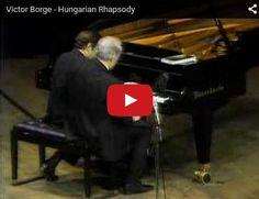 Liszt - Hungarian Rhapsody No 2 - Victor Borge, 4 hands