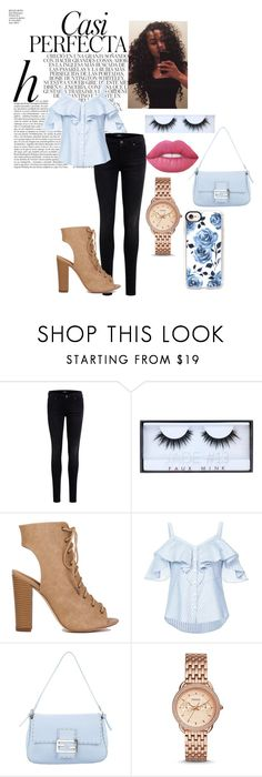"""""""Untitled #117"""" by squeaky-silver-wright ❤ liked on Polyvore featuring Whiteley, Object Collectors Item, Huda Beauty, Veronica Beard, Fendi, FOSSIL and Casetify"""