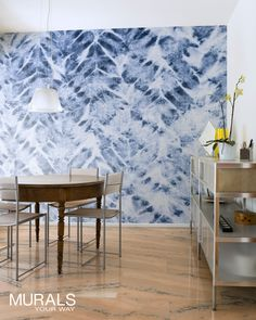We're wild about Shibori! Abstract murals add a great pop of color and texture to a wall, without being overwhelming. #myMYWmural