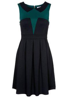 CALANA Black and Green Dress