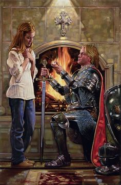 I love this painting.  It has to be one of my favorites and I love the artist that did it.  I would love it if I could paint this well.  Daughter of the King - Ron DiCianni