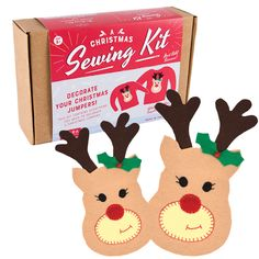 Decorate your Christmas Jumpers Sewing Kit. Enough materials to decorate 3 garments.