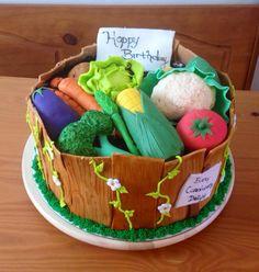 Vegetable Basket Cake