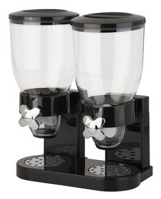 Free 2-day shipping on qualified orders over $35. Buy Honey-Can-Do Zevro Original Indispensable Dual 17.5 oz Dispenser, Black/Chrome at Walmart.com Cereal Containers, Food Storage Containers, Nottingham, Cereal Dispenser, Honey Dispenser, Buy Honey, Portion Control, Canisters, Kitchen Gadgets