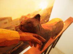 ''2''部分/detail, 2011, panting, polystyrene based sculpture