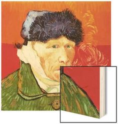 Self Portrait with Bandaged Ear and Pipe, 1889 Wood Print by Vincent van Gogh at Art.com