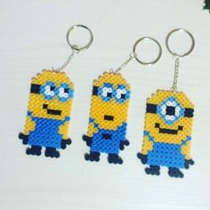 Minion keyrings hama beads by Marzypan'S Creations