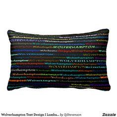 Wolverhampton Text Design I Lumbar Pillow
