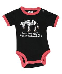 Take a look at this Black Catching Some Z's Bodysuit - Infant by Lazy One on #zulily today!