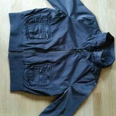 Chocolate brown Jacket/Windbreaker Nice brown jacket it sits on the waist.measurements pit to pit 19 1/2 shoulder to shoulder 16 1/2 length shoulder to waist 21 1/2 waist 16 Black Rivet Jackets & Coats