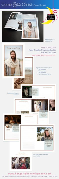 Come Unto Christ: Easter Thoughts and Inspiration booklet for Young Women and Young Men. Perfect to go with Easter lessons. FREE download!