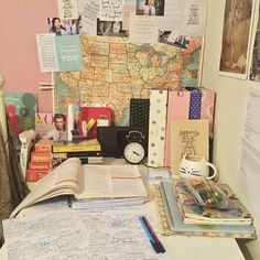 Find images and videos about book, motivation and school on We Heart It - the app to get lost in what you love. College Life Hacks, Study Space, Desk Space, Life Organization, College Organisation, School Stationery, School Life, Law School, Study Hard