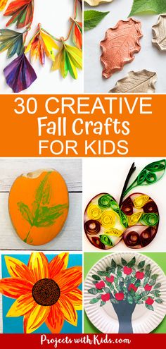 These autumn crafts for kids will inspire fun and creativity! Click through to find fall leaf crafts, pumpkin and apple crafts, fall decor crafts and more. #projectswithkids #fallcrafts Fall Crafts For Toddlers, Halloween Crafts For Kids, Crafts For Kids To Make, Toddler Crafts, Preschool Crafts, Kids Crafts, Kids Diy, Fall Arts And Crafts, Easy Fall Crafts