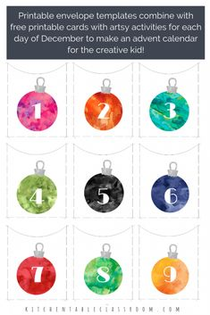 Make your own advent calendar with this free printable. This DIY advent calendar will encourage creativity by providing a prompt, project, or activity! Christmas Art Projects, Christmas Arts And Crafts, Christmas Love, Holiday Crafts, Xmas, Christmas Ideas, Make An Advent Calendar, Advent Calendars For Kids, Kids Calendar