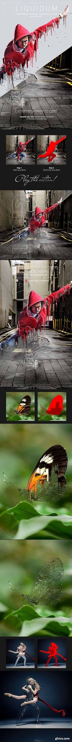 GraphicRiver - Liquidum - Transparent Painting Photoshop Action 20306902