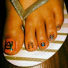 Nails, nail art, toes, auburn, football, tigers