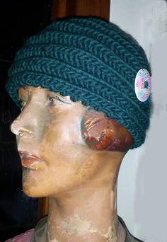 Bandeau, serre-tête, tricoté en grosse laine : Chapeau, bonnet par madebymum