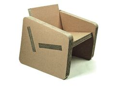 cardboard chair. Could make a laser cut shapes invitation to a home show printed on shapes that assemble to make a chair that the recipients assemble and put on their desks.