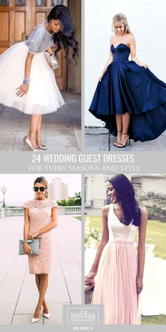 24 Wedding Guest Dresses For Every Seasons & Style ❤ We've got the best wedding guest dresses. See more: http://www.weddingforward.com/wedding-guest-dresses/ #wedding #dresses #guest