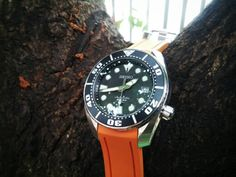 Seiko SBDC001 with Orange CrafterBlue Strap