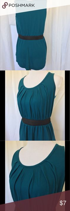 Darling Tunic or Mini Dark Teal colored tunic length or could be worn as a mini. Love the neckline detail and elastic waistband. Super comfortable. Massimo Alba Dresses Mini