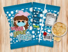 INSTANT DOWNLOAD, Editable I miss your face 003 Chip Bag Candy Bag, party Favors, Chip Wrappers by AdrisCorner on Etsy