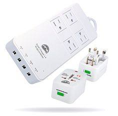All Power Chargers Travel Charging Station – International Travel Adapter – Surge Protector – Power…