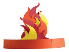 """This flame hat will make it easier for kids to understand what happened on the day that Christ's followers were filled with the Holy Spirit. Includes: pre-printed cardboard adjustable headbands (assorted colors), precut flames and glue stick. 1"""" x 24"""". #pentecostcrafts #pentecostflamescraft #biblecrafts #sundayschoolcrafts #vbscrafts #herovbs #Christiancrafts #guildcraftartsandcrafts Sunday School Kids, Sunday School Lessons, Sunday School Crafts, Children's Church Crafts, Vbs Crafts, Day Of Pentecost, Bible Story Crafts, Saint Esprit, Christian Crafts"""