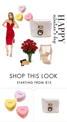 """""""Happy Valentine's day AMI Dolls!"""" by amiclubwear ❤ liked on Polyvore featuring Two's Company, littlereddress, valentinesday, amiclubwear and amiobsessed"""