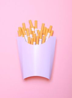 Omg I feel that this pic can be deeply interpreted, like fries are things people Consume a lot, fast food is popular, and now and now people smoke a lot cus they think it's cool