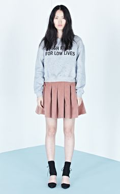 Low Classic 13 holiday slogan sweatshirts - gray