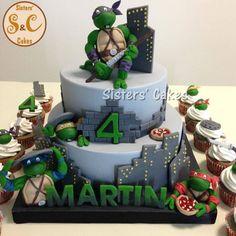 torte tartarughe ninja turtles cakes Ninja Turtle Cookies, Ninja Turtle Birthday Cake, Ninja Cake, Tmnt Cake, Ninja Turtle Party, Ninja Turtles, Cars Birthday Parties, Birthday Cakes, How To Make Cake