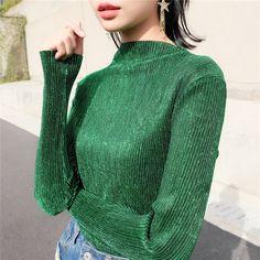 #aliexpress, #fashion, #outfit, #apparel, #shoes #aliexpress, #Korean, #Fashon, #Tshirts, #Autumn, #sleeved, #Pullovers, #Metalic, #Blouses, #Bright, #Glossy, #Ladies, #Trendy, #Fashion, #Shirt