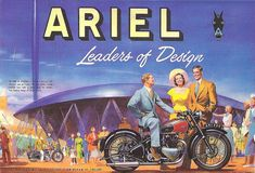 Ariel Motorcycles Twin Leaders Of Design 1951