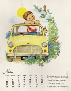 ¤ Calendar by Mabel Lucie Attwell - May 1967