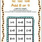 Addition Tic Tac Toe from Games 4 Learning combines the fun of Tic Tac Toe and with practice of basic addition facts.     It includes 3 Tic Tac Toe Addition Game Boards.     These fun, math board games are for 2 players. They use the classic Tic Tac Toe game to practice addition.