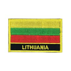 c5c9fc8ff7b Lithuania Flag Patch Embroidered Patch Gold Border Iron On patch Sew on  Patch Bag Patch