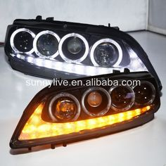 428.00$  Buy here - http://alip2l.worldwells.pw/go.php?t=2039752688 - For MAZDA 6 LED Head Lamp Angel Eyes 2004 to 11 V3 Type