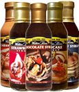 Walden Farms: Syrups Strawberry, Blueberry, Chocolate, Caramel, and Pancake Syrup.
