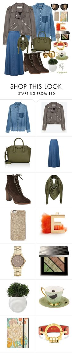 """""""denim on denim"""" by elifyuceturk ❤ liked on Polyvore featuring Jakke, Givenchy, WithChic, John Lewis, Louis Vuitton, Michael Kors, Fendi, Marc Jacobs, Burberry and Melody Rose"""