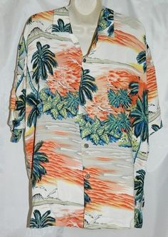 Hawaiian Button Front Shirt size XL Camp Shirt Tropical Hawaii Aloha