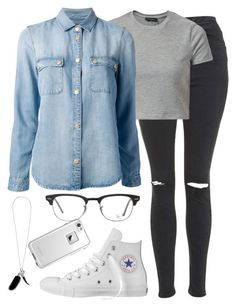 """""""Без названия #424"""" by kristinabragina ❤ liked on Polyvore featuring Topshop, Converse, LifeProof, Alexander McQueen, Ray-Ban and 7 For All Mankind"""