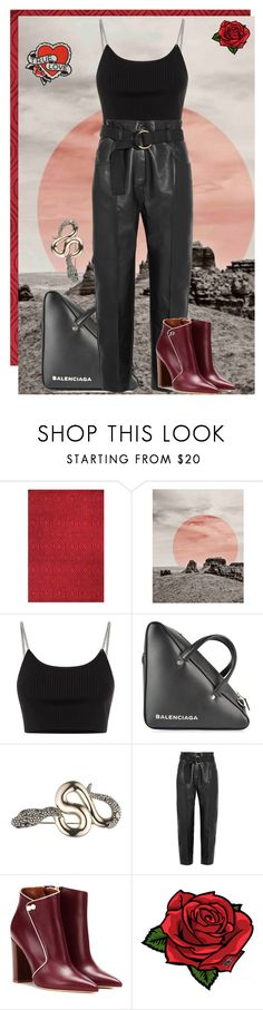 """Desert Rose"" by agathastyles ❤ liked on Polyvore featuring Bashian, Alexander Wang, Balenciaga, Alexis Bittar, Petar Petrov, Malone Souliers, Pôdevache and AlexanderWang"