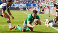 Jacob Stockdale scores his debut try for Ireland in a win over the USA Scores, Rugby, Ireland, Usa, Rugby Sport, Irish, U.s. States, Football