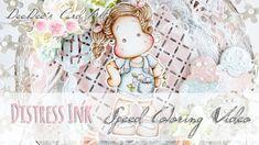 ♥ DeeDee's Card Art ♥ Distress Inks Coloring Video: Tilda from the PopUp Box Vol. 3