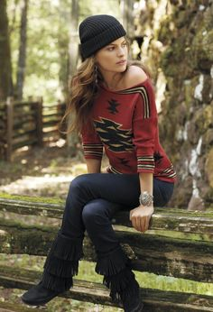 Lightweight knitwear for early fall days. #ChapsBrand #Kohls  ~  really like Chaps brand tops ~  and these boots are cute, too!